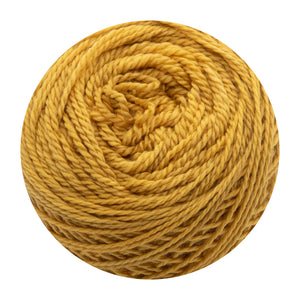 Naturally dyed pure merino in GoldenPole - warm yellow colourway