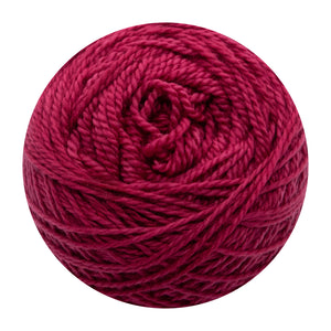 Naturally dyed pure merino in KissStar - Cherry red colourway