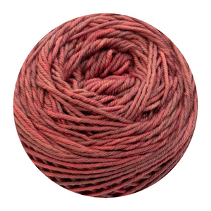 Naturally dyed pure merino in MoonBerry - deep coral colourway