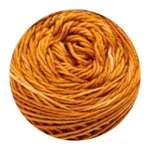 Naturally dyed pure merino in Orancher - orange colourway