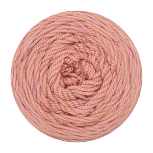 Naturally dyed pure merino in Sunsling - soft pink colourway