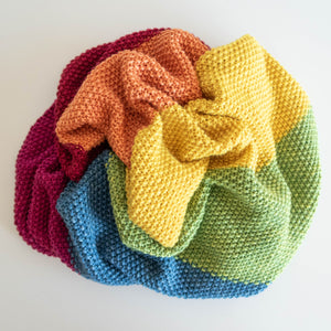 Naturally dyed Rainbow DK yarn baby blanket kit