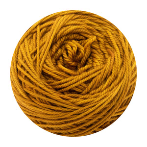 Naturally dyed pure merino in Scrunpkin - orange colourway