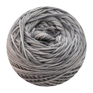 Naturally dyed pure merino in SilverStud - silver grey colourway