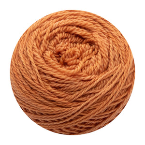 Naturally dyed pure merino in StripTease - orange colourway
