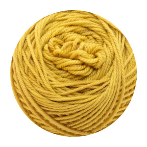 Naturally dyed pure merino in Sunsling - yellow colourway