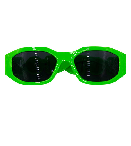 Jackie- neon green sunglasses