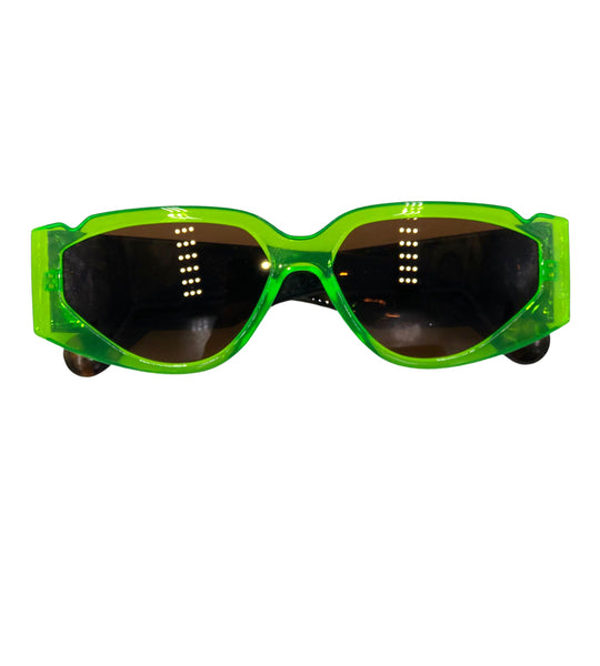 Billie- Neon Green cyber sunglasses