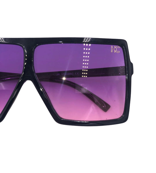 Sasha - purple black oversized sunglasses