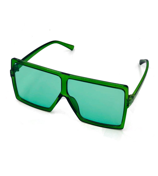 Katie- emerald oversized sunglasses