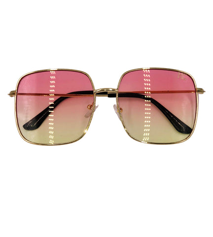 Paloma- pink yellow retro frames