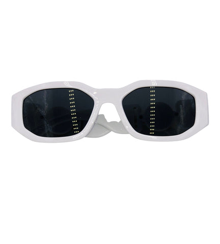 Naomi- white retro sunglasses
