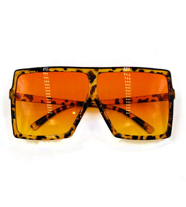 Mischa- leopard orange glasses