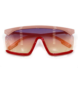 Christie - pink and red sports sunglasses