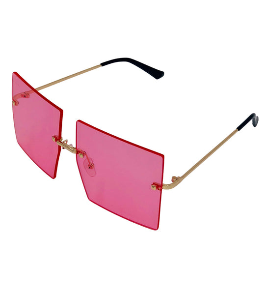 Drew - Pink frameless glasses