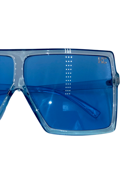 Jena - blue square sunglasses