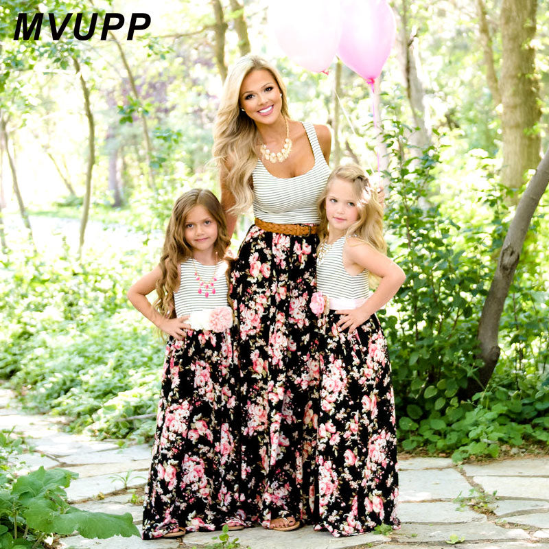 Mommy and me family matching mother daughter dresses - Babiesandall