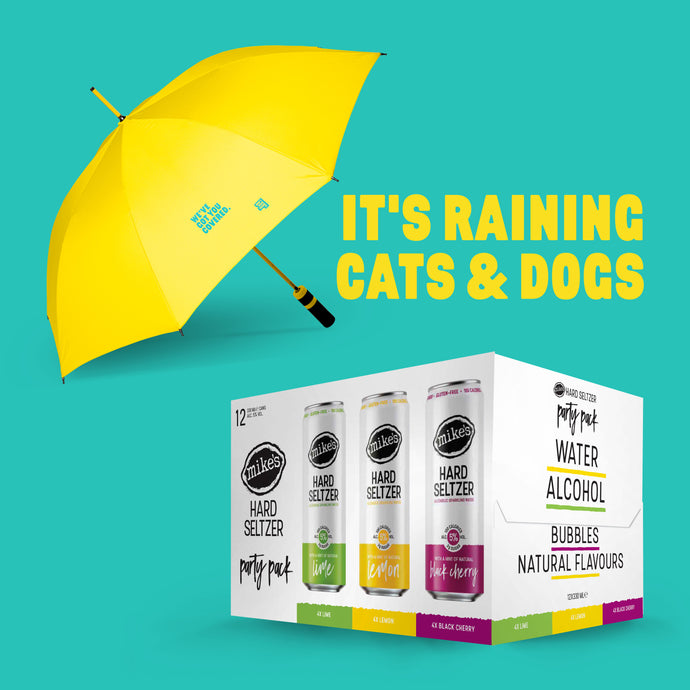 Mike's Hard Seltzer Variety Pack with Yellow Umbrella