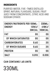 Mike's Hard Seltzer Raspberry Nutrition Facts