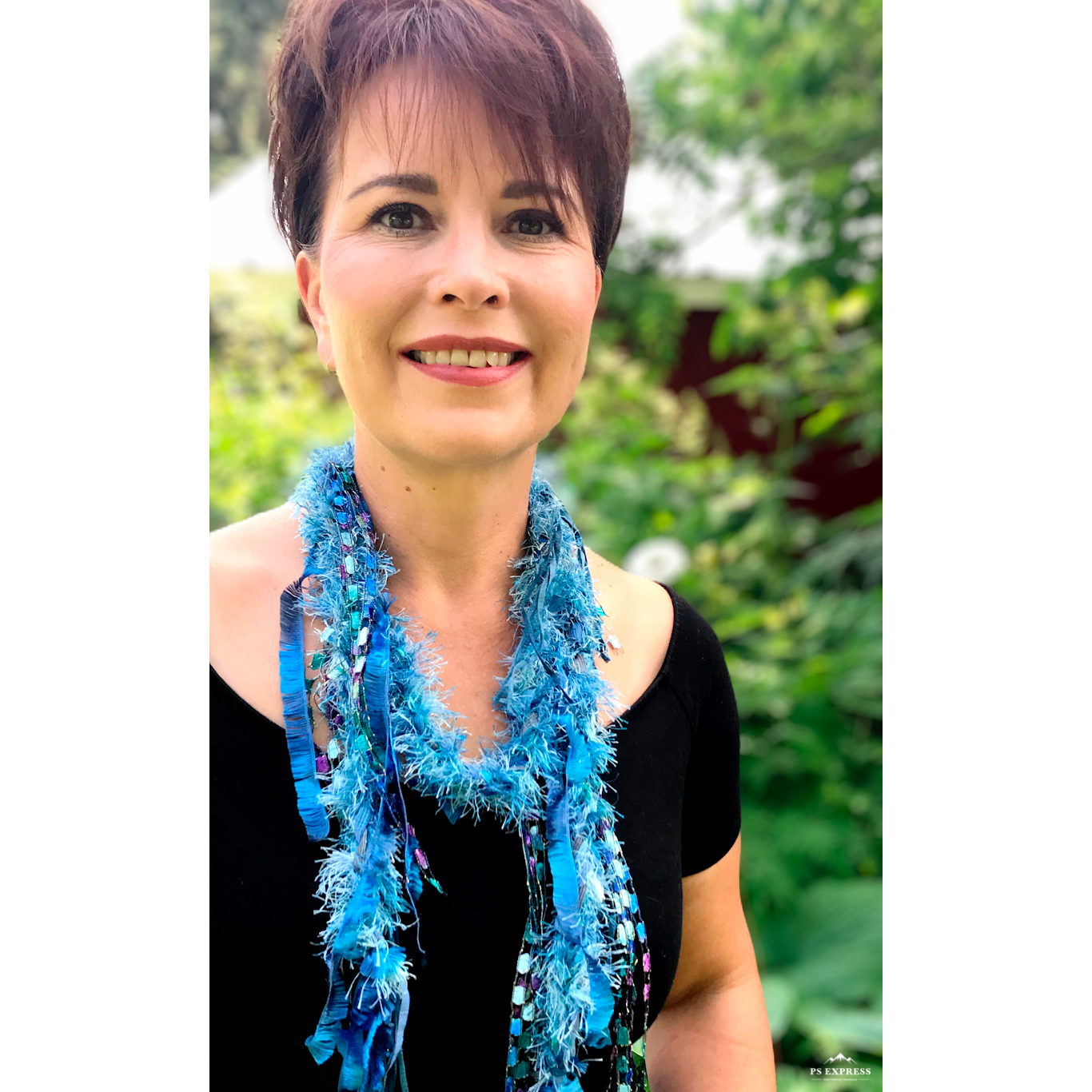 Necklace Scarf - Blue Lagoon
