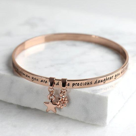 Daughter Rose Gold Bracelet - The Charming Jewellery Store
