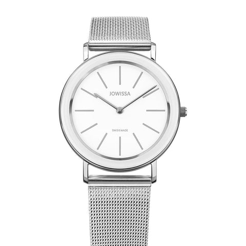 Silver/White Alto Swiss Ladies Watch