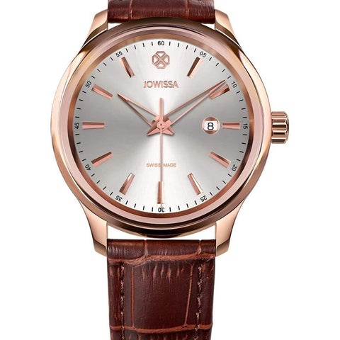 Brown Leather Tiro Swiss Men's Watch