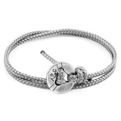 Classic Grey Lerwick Silver and Rope Bracelet