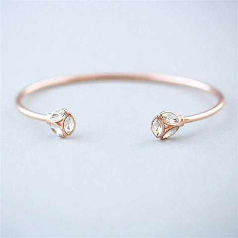 Rose Gold Eternity Bangle - The Charming Jewellery Store