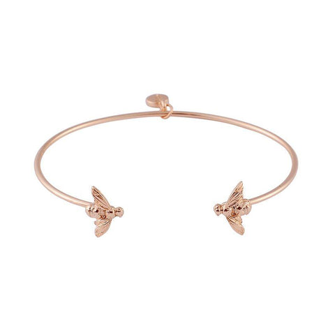 Gold Bee Bangle - The Charming Jewellery Store