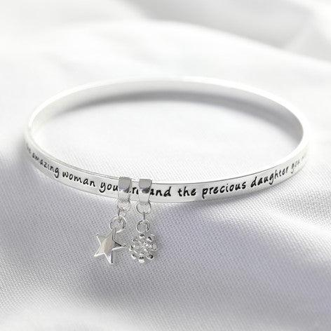 Daughter Silver Bracelet - The Charming Jewellery Store