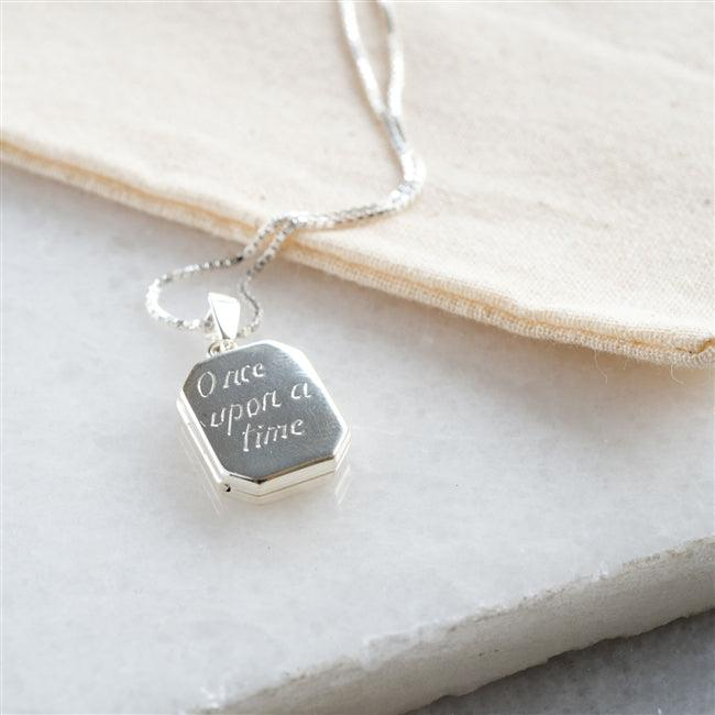 Sterling Silver Square Locket