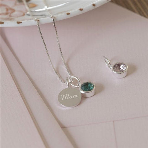 Personalised Swarovski Birthstone Necklace