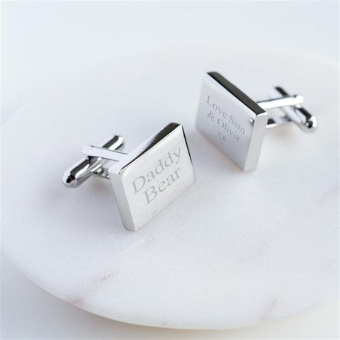 Personalised Rectangular Cufflinks