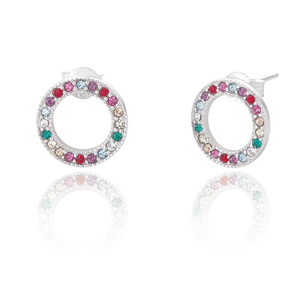 Sterling Silver Rainbow Earrings
