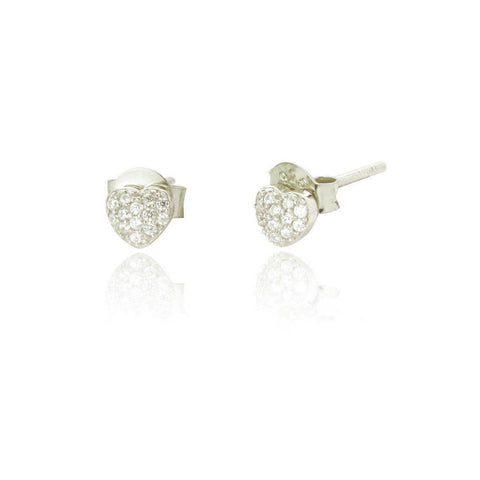 Heart Stone Stud Earrings