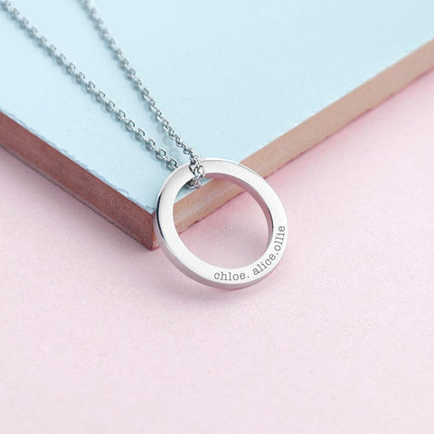 Personalised Ring Pendant Necklace