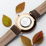 Men's Personalised Brown Leather Watch