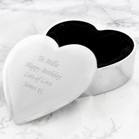 Personalised Silver Heart Trinket