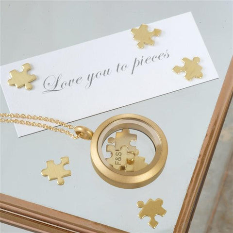 Gold Love You To Pieces Necklace 1 - The Charming Jewellery Store