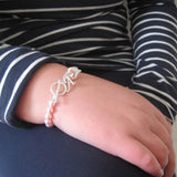 Personalised Swarovski Pearl Charm Initial Bracelet 3 - The Charming Jewellery Store