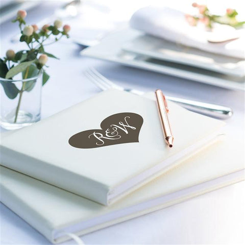 Personalised Initial Heart Guest Book - The Charming Jewellery Store