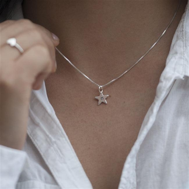 Personalised Initial Star Necklace 1 - The Charming Jewellery Store