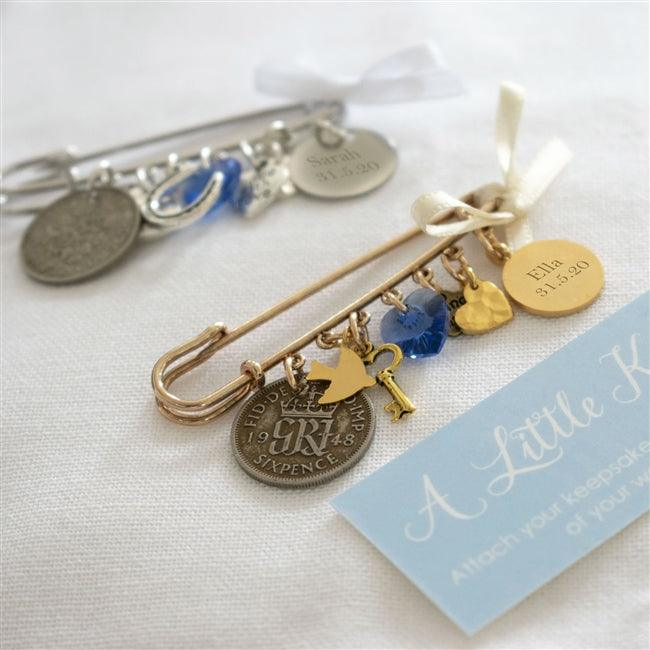 Personalised Bridal Pin 1 - The Charming Jewellery Store