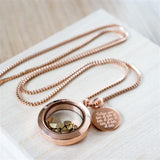 Rose Gold Love You Lots Necklace 1 - The Charming Jewellery Store