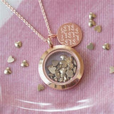 Rose Gold Love You Lots Necklace 3 - The Charming Jewellery Store