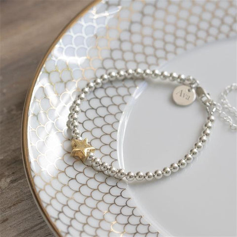 Personalised Star Bead Bracelet - The Charming Jewellery Store