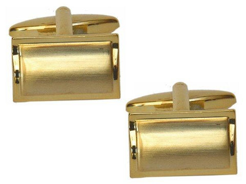Gold Rectangular Cufflinks - The Charming Jewellery Store