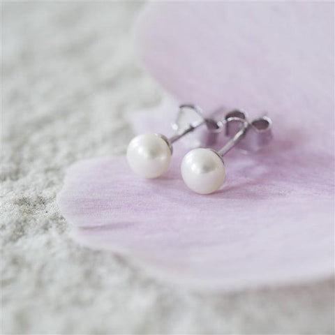 Pearl Stud Earrings -  The Charming Jewellery Store