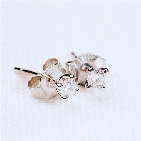Diamond Solitaire Earrings - The Charming Jewellery Store